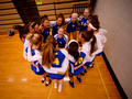 2017 Queensbury Varsity Volleyball team prior to a game